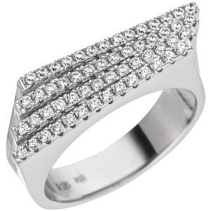 Damen Ring aus 925 Sterling Silber mit Zirkonia Silberring