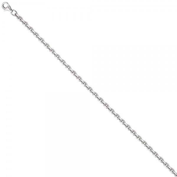 Ankerkette 925 Silber diamantiert 3,4 mm 50 cm Kette Halskette Silberkette