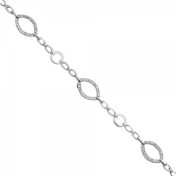 Armband 925 Sterling Silber mit Zirkonia 19 cm Silberarmband