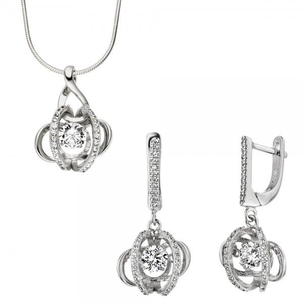 Anhänger 925 Sterling Silber mit Zirkonia Silberanhänger Kettenanhänger