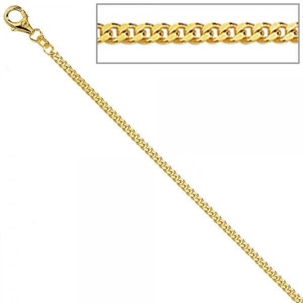 Panzerkette 585 Gelbgold diamantiert 2,2 mm 60 cm Gold Kette Halskette Goldkette