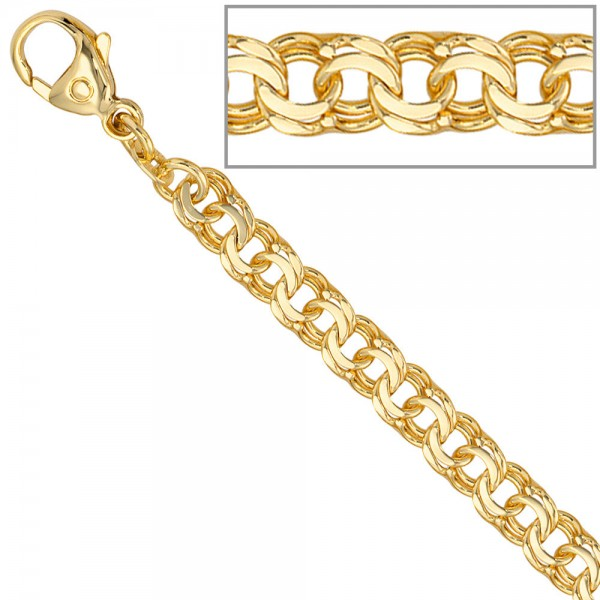 Garibaldikette 585 Gelbgold 5,2 mm 45 cm Gold Kette Halskette Goldkette