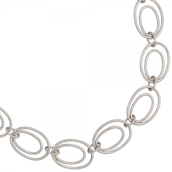 Halskette Kette 925 Sterling Silber rhodiniert 64 cm Silberkette Karabiner