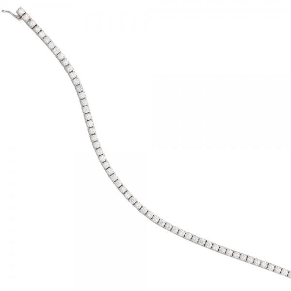 Armband 750 Gold Weißgold 68 Diamanten Brillanten 3,53ct. 18 cm Weißgoldarmband