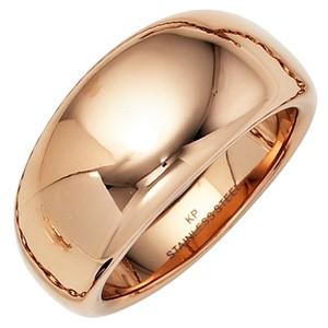 Damen Ring breit Edelstahl rotgoldfarben beschichtet