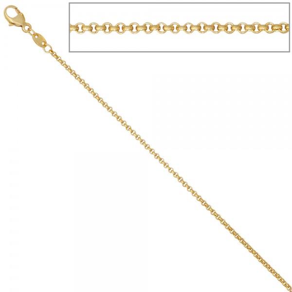Erbskette 585 Gelbgold 1,5 mm 36 cm Gold Kette Halskette Goldkette Karabiner