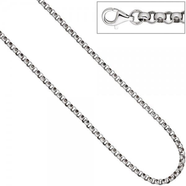 Erbskette 925 Sterling Silber 4,5 mm 50 cm Kette Halskette Silberkette Karabiner