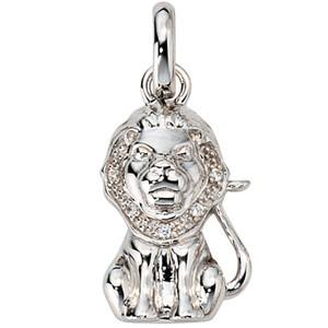 Anhänger Sternzeichen Löwe 925 Silber mit Zirkonia Sternzeichenanhänger