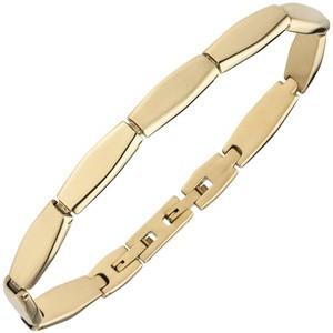 Armband Edelstahl gold - farben beschichtet matt 21 cm