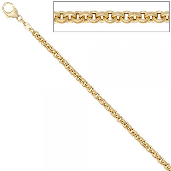 Erbskette 585 Gelbgold 3,4 mm 80 cm Gold Kette Halskette Goldkette Karabiner