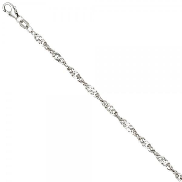 Singapurkette 925 Silber 2,9 mm 45 cm Halskette Kette Silberkette Karabiner