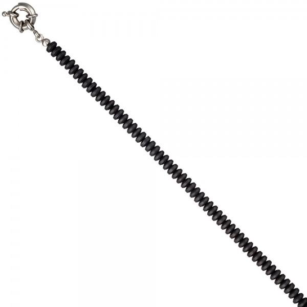 Collier Edelsteinkette Hämatin matt 45 cm Halskette Kette