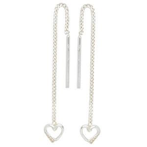 Durchzieh-Ohrhänger Herz 925 Sterling Silber Ohrringe zum Durchziehen