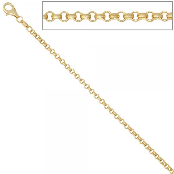 Erbskette 585 Gelbgold 2,5 mm 50 cm Gold Kette Halskette Goldkette Karabiner