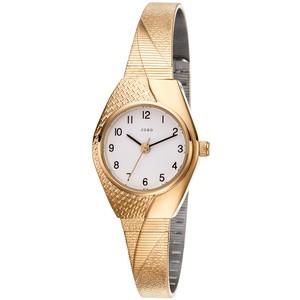 JOBO Damen Armbanduhr Quarz Analog vergoldet Damenuhr