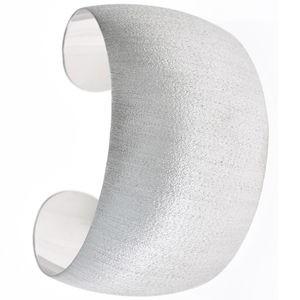 Armspange / offener Armreif aus 925 Sterlingsilber eismatt