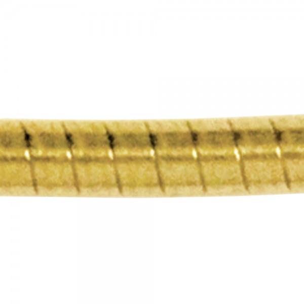 Halsreif 585 Gelbgold 1,5 mm 50 cm Gold Kette Halskette Goldhalsreif Karabiner