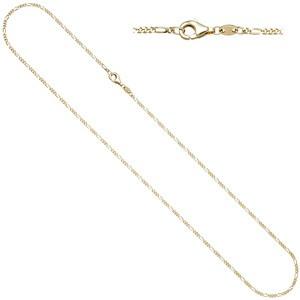 Figarokette 333 Gold Gelbgold diamantiert 1,7 mm 45 cm Kette Halskette Goldkette