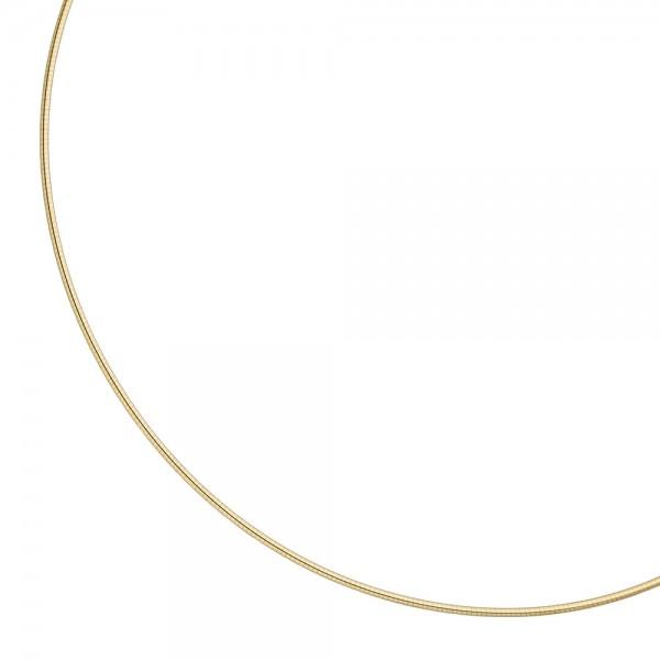 Halsreif 925 Sterling Silber gold vergoldet 1,5 mm 50 cm Kette Halskette
