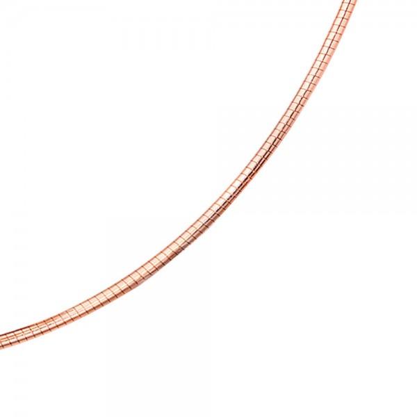 Halsreif 585 Rotgold 1,8 mm 42 cm Gold Kette Halskette Rotgoldhalsreif Karabiner