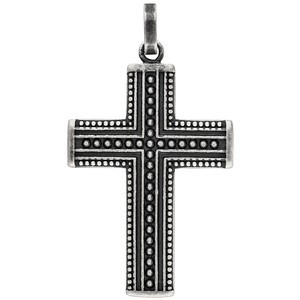 Anhänger Kreuz Edelstahl geschwärzt Kreuzanhänger Edelstahlkreuz Schwarz
