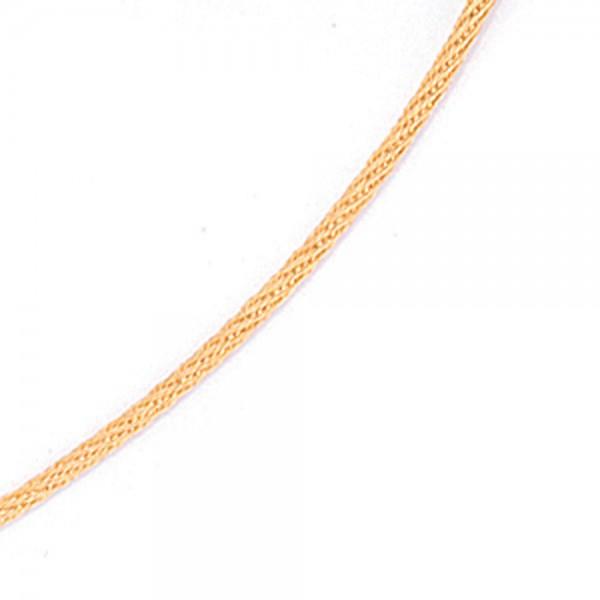 Halsreif 750 Gold Gelbgold 1,1 mm 45 cm Halskette Kette Karabiner