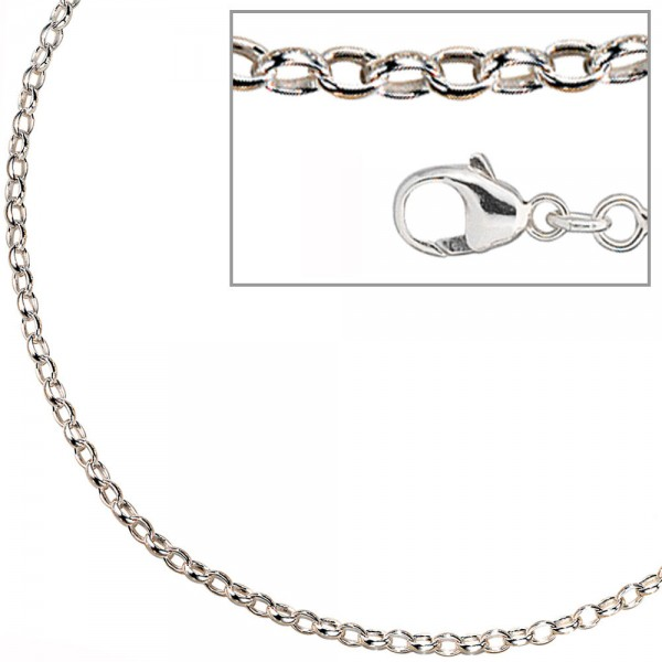 Ankerkette 925 Silber 3,0 mm 70 cm Halskette Kette Silberkette Karabiner