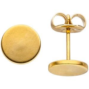 Ohrstecker STUDS 8 mm aus Edelstahl goldfarben beschichtet Ohrringe