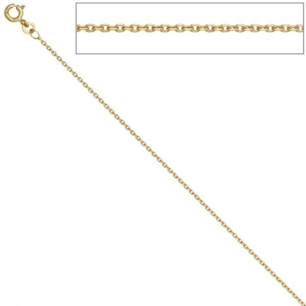 Ankerkette 585 Gelbgold 1,2 mm 42 cm Gold Kette Halskette Goldkette Federring