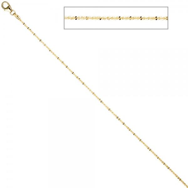 Criss-Cross Kette 333 Gelbgold 1,3 mm 42 cm Gold Halskette Goldkette Karabiner