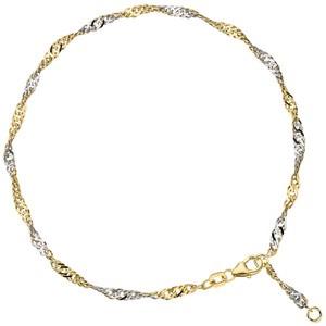Fußkettchen Fußkette 925 Sterling Silber gold vergoldet 2,9 mm 25 cm Karabiner