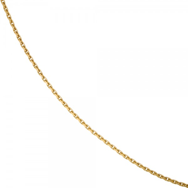 Ankerkette 585 Gelbgold diamantiert 3 mm 50 cm Gold Kette Halskette Goldkette