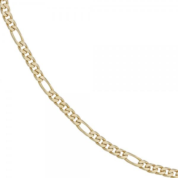 Figarokette 585 Gelbgold 4,4 mm 50 cm Gold Kette Halskette Goldkette Karabiner