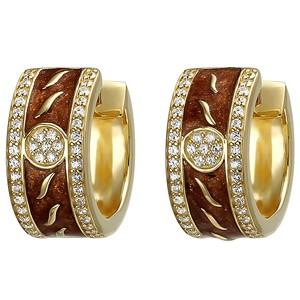 Creolen 925 Sterling Silber gold vergoldet 86 Zirkonia Ohrringe