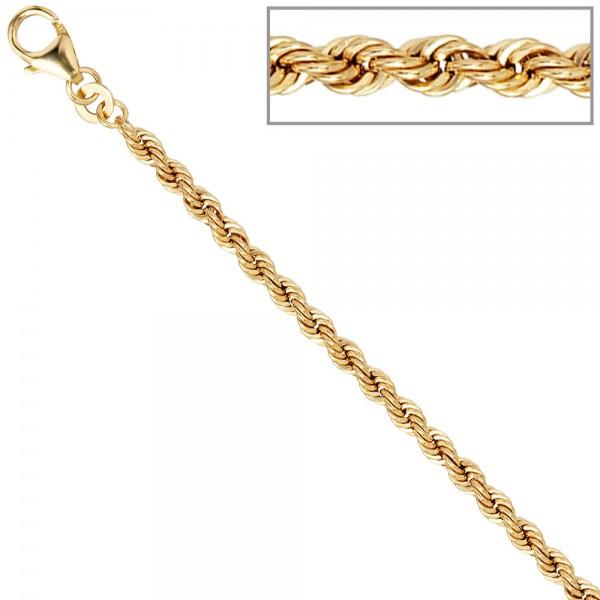 Kordelkette 585 Gelbgold 3,2 mm 45 cm Gold Kette Halskette Goldkette Karabiner