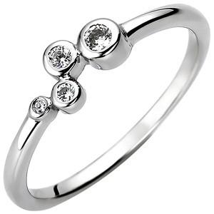 Damen Ring 925 Sterling Silber 4 Zirkonia