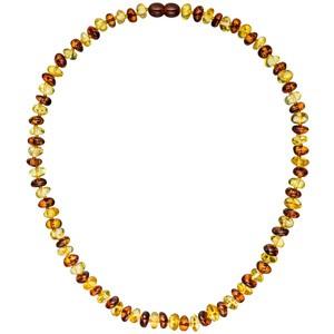 Kette Collier Bernstein bicolor 45 cm Halskette Bernsteinkette Bernsteincollier