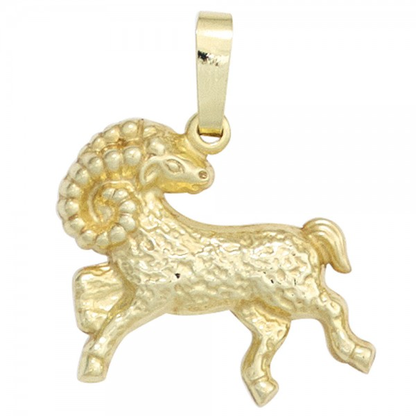 Anhänger Sternzeichen Widder 333 Gold Gelbgold Sternzeichenanhänger