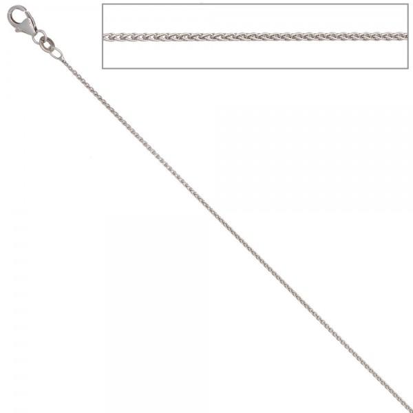 Zopfkette 333 Weißgold 1,0 mm 45 cm Gold Kette Halskette Weißgoldkette Karabiner