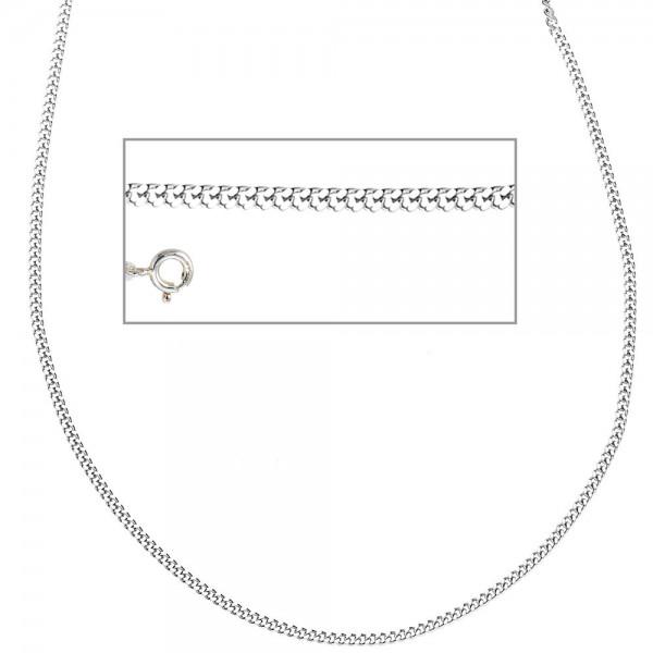 Panzerkette 925 Sterling Silber 2 mm 38 cm Halskette Kette Silberkette Federring