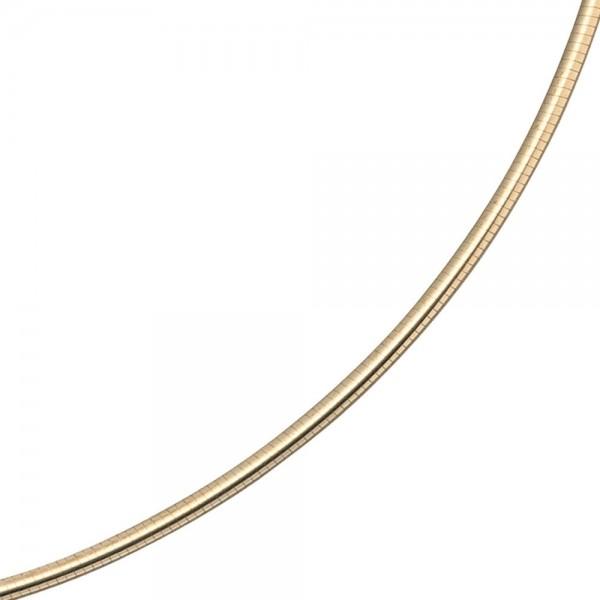 Halsreif 585 Gelbgold 2 mm 45 cm Gold Kette Halskette Goldhalsreif Karabiner