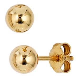Ohrstecker Kugel 333 Gold Gelbgold Ohrringe Kugelohrstecker