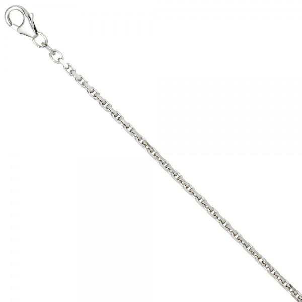 Ankerkette 925 Silber 2 mm 42 cm Halskette Kette Silberkette Karabiner