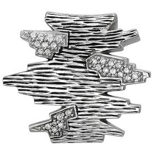 Anhänger 925 Sterling Silber geschwärzt 26 Zirkonia Silberanhänger