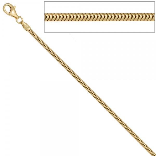 Schlangenkette aus 585 Gelbgold 2,4 mm 50 cm Gold Kette Halskette Goldkette