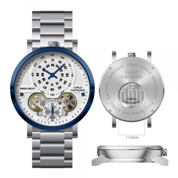 Carlo Cantinaro CC1004GB002 Herrenuhr Qartzmatic GMT