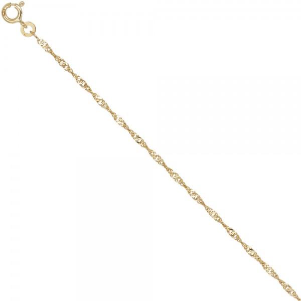 Singapurkette 585 Gelbgold 1,8 mm 42 cm Gold Kette Halskette Goldkette Federring