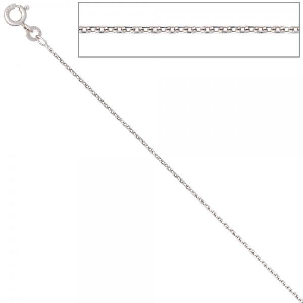 Ankerkette 585 Weißgold 1,3 mm 45 cm Gold Kette Halskette Weißgoldkette