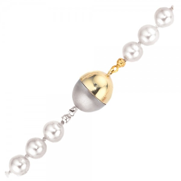 Kettenschließe Magnet-Schließe 585 Gold Gelbgold Weißgold bicolor