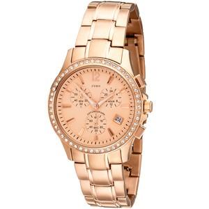 JOBO Damen Armbanduhr Quarz Chronograph Edelstahl mit SWAROWSKI ELEMENTS